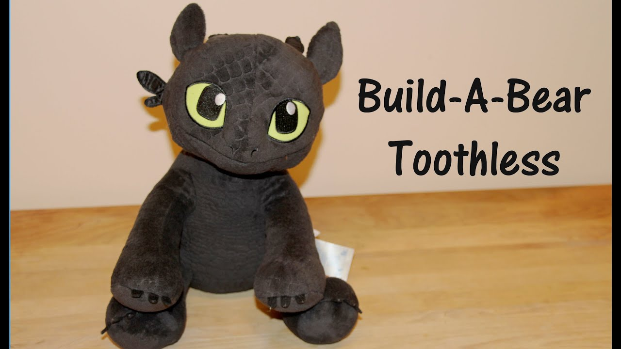 Toothless Build A Bear Dragon Plush From How To How Train Your