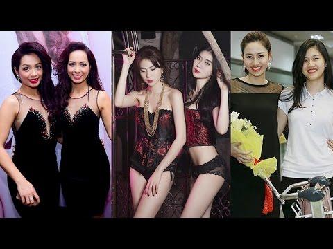 """3 cặp chị em """"song sinh"""" chân dài nổi tiếng của Showbiz Việt"""
