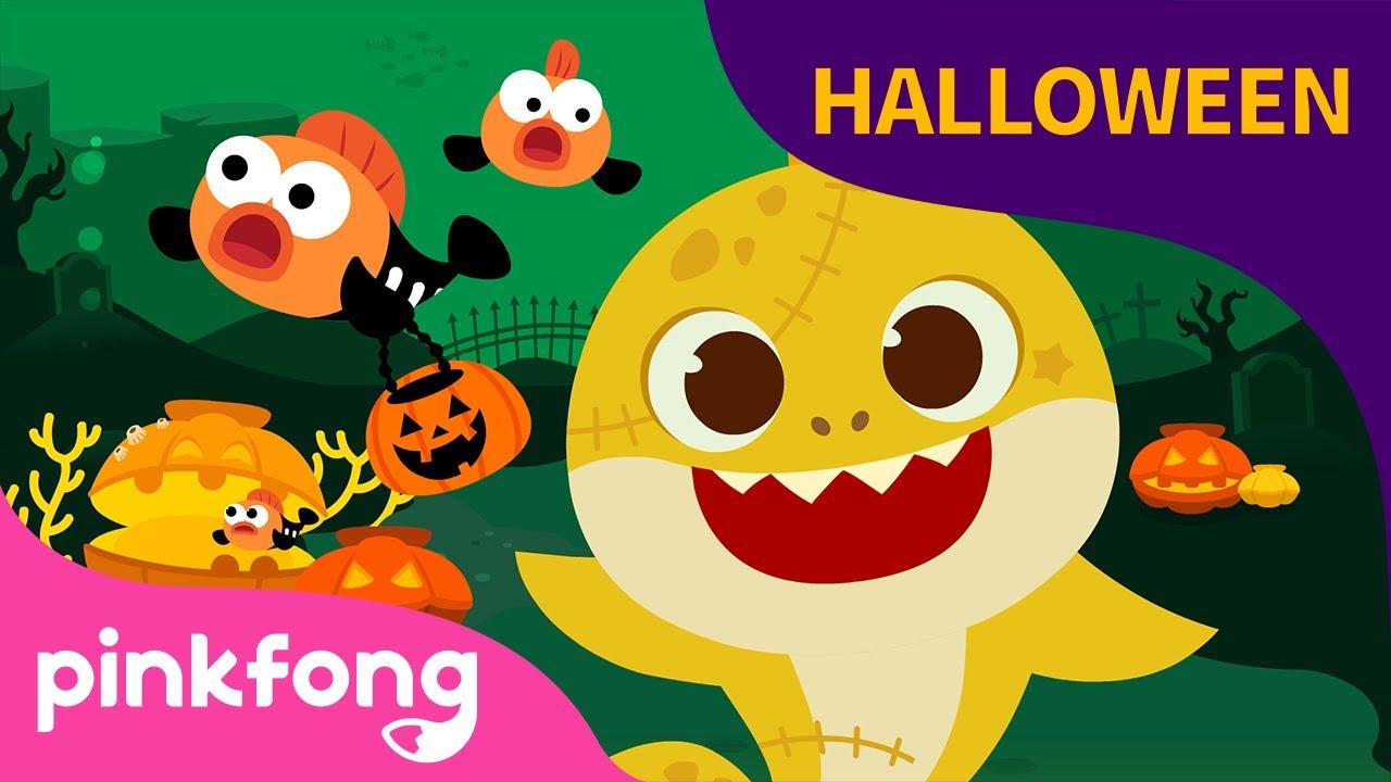 Tiburones Zombi de Halloween | Tiburón Bebé | Canciones Infantiles | Pinkfong@Baby Shark en Español