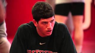Rutgers wrestler Anthony Ashnault shows pre-match weight-cutting routine