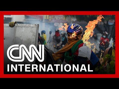 Violent protests erupt in Colombia