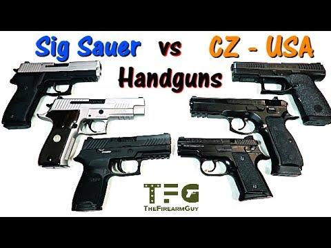 Sig Sauer vs CZ - USA  Handguns - TheFireArmGuy