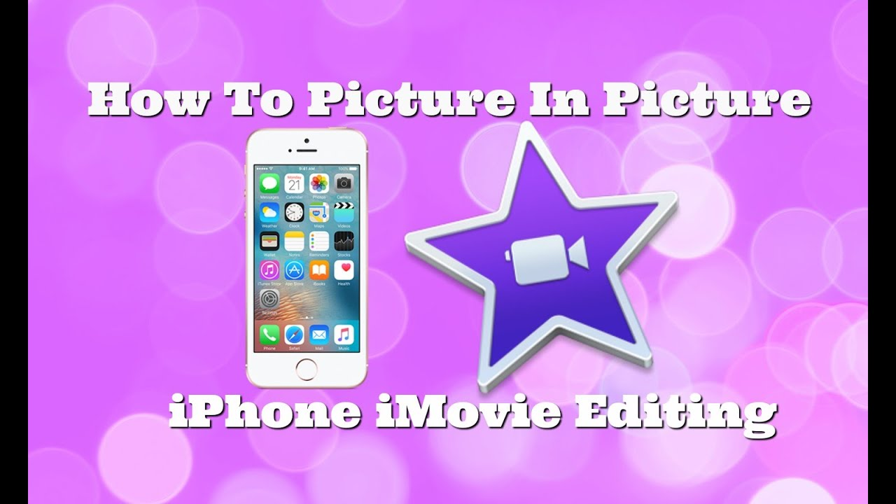 how to add pictures to imovie video