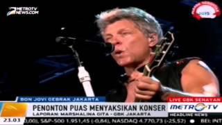 "Konser Bon Jovi : "" livin on a prayer "" menutup kemeriahan konser Bon Jovi - jakarta"