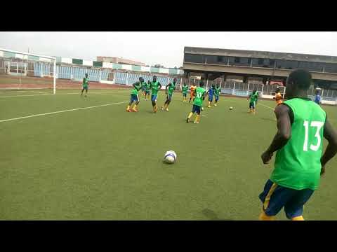 Ball work session against shooting stars of Ibadan at Lekan salami stadium 2018