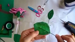 eva ile evagül e yaprak yapımı / yapma çiçek yaprağı yapılışı / detaylı anlatım