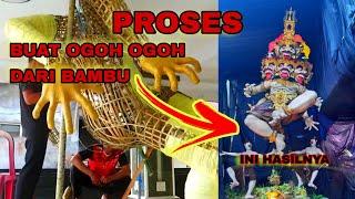 Download Video Proses pembuatan  ogoh - ogoh ter ekstrim dengan ulatan bambu. MP3 3GP MP4