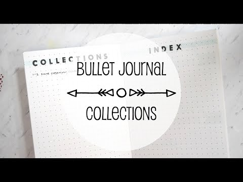 New Collections Section in my creative Bullet Journal