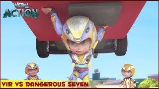 Vir : The Robot Boy | Vir Vs Dangerous Seven Part 2 | 3D Action shows for kids | WowKidz Action