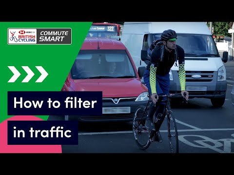 How to filter in traffic when cycling   Commute Smart
