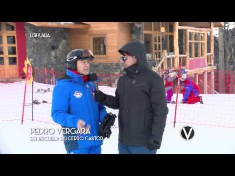 Ski en el Cerro Castor en Ushuaia y nota con Luis Castelli