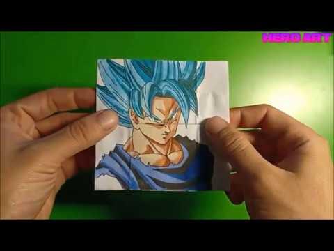 hướng dẫn làm tranh goku biến đổi 4 trạng thái-TUTORIAL Goku Transformations