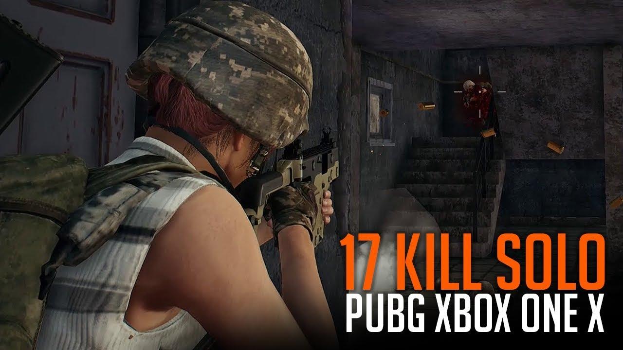17 Kill Solo - PUBG Xbox One X - YouTube