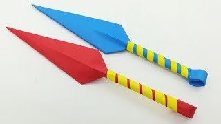 Easy Origami Paper Kunai Knife For Kids | How to Make a Paper toy Knife - By Origami Art & Crafts