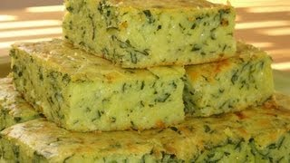 Corn Bread Quiche with Spinach and Cheese - How to make recipe
