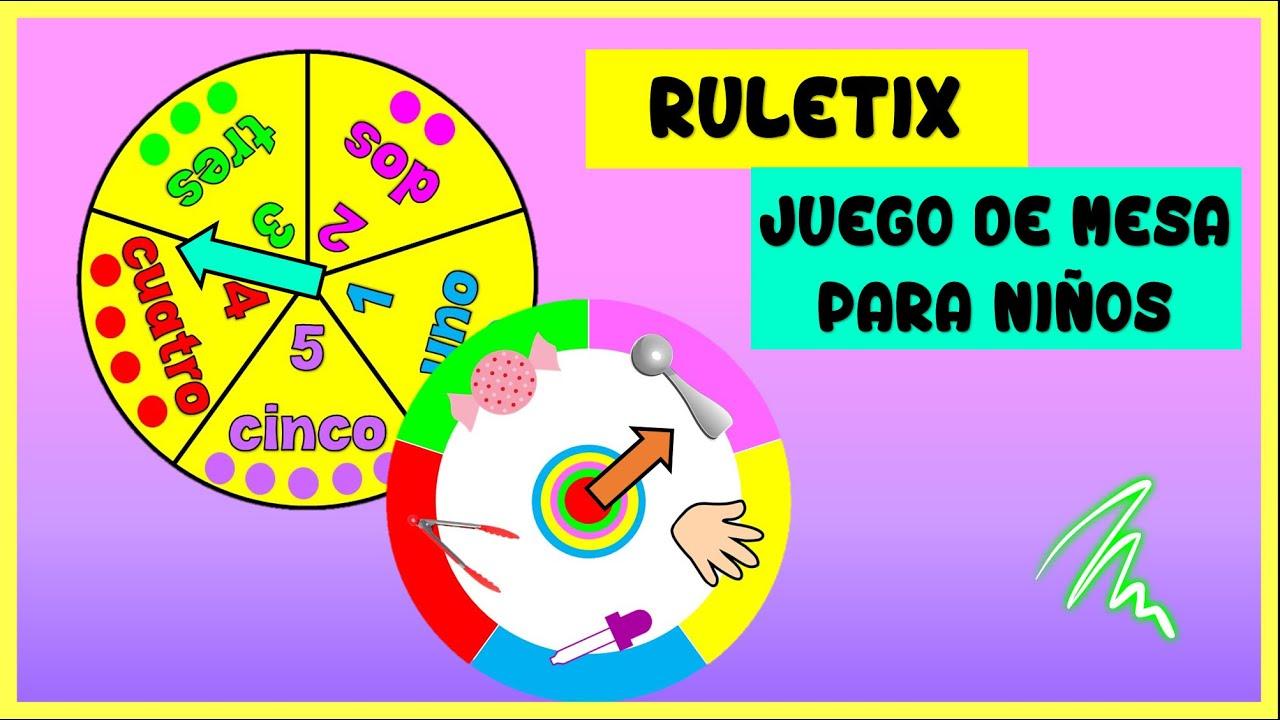 Juego De Mesa Para NiÑos La Ruletixtrabajamos NÚmeros Y