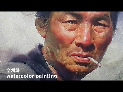/Watercolor painting portrait