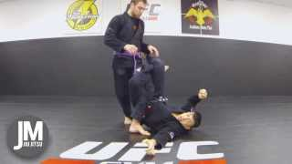 Defend Guard Pass with 50/50 & Knee on Belly Escape!