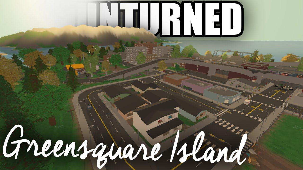 Unturned Map Showcase Greensquare Island Detailed LARGE MAP w