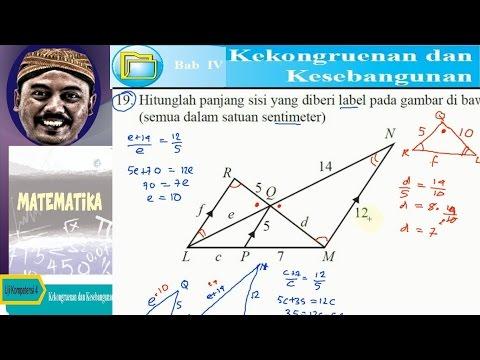 menghitung panjang sisi yang di tanyakan , kesebangunan , bse matematika kelas IX K13 uk 4,1 no 19b