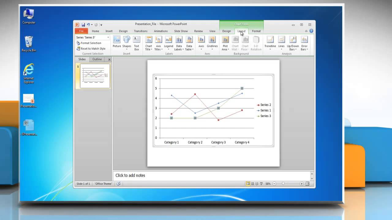 how to make a graph in powerpoint 2010