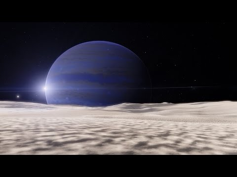 Space Engine: Tidally locked moon of a gas giant