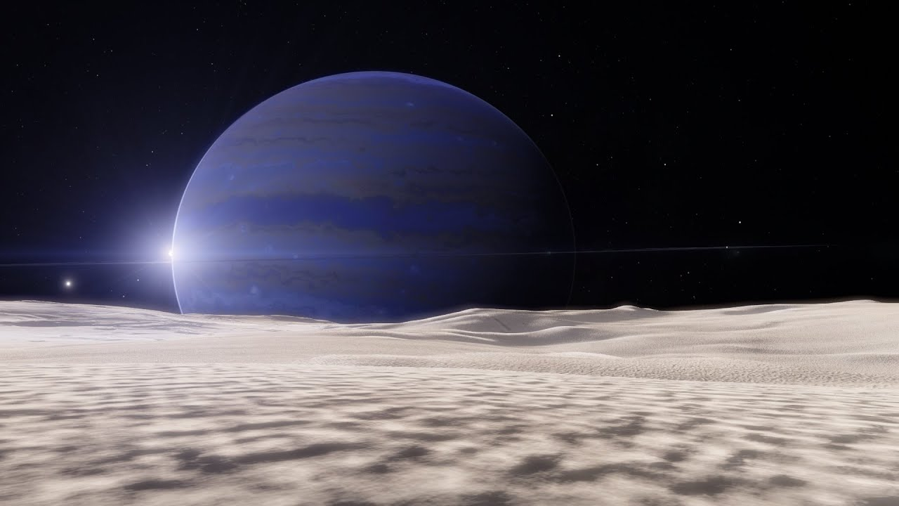 Space Engine Tidally locked moon of a gas giant YouTube