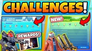 *NEW* RUMBLE ROYALE CHALLENGES/REWARDS & BRUTE SQUAD MISSIONS (Fortnite Season 10)