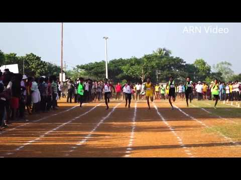 Arun V Won Gold -100 Meter ( Senior Boys ) at Thrissur District Sports & Games 2015-16