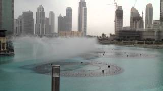 The Dubai Fountain - Day Time Show on 4/1/2012