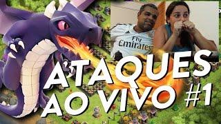 CLASH OF CLANS - CLÃ APOCALIPSE - ATAQUES NA GUERRA AO VIVO#1