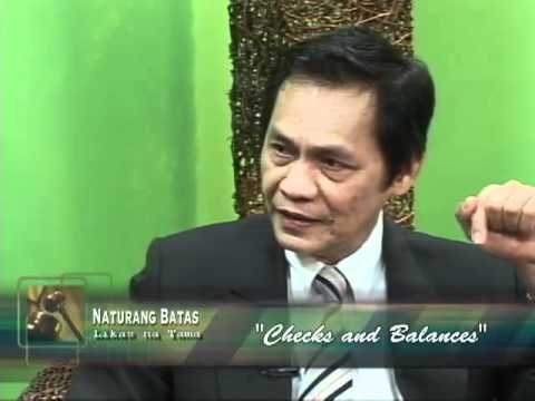 Naturang Batas, Likas na Tama: Checks and Balances (pt.1)