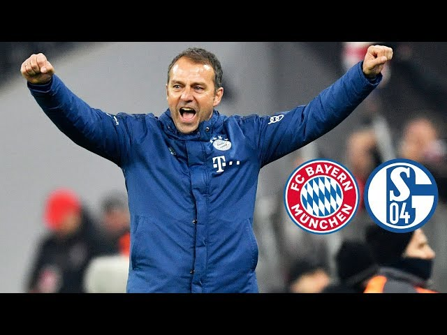 Topspielsieg und Teamgeist   Pressekonferenz mit Hansi Flick nach FC Bayern - Schalke 04