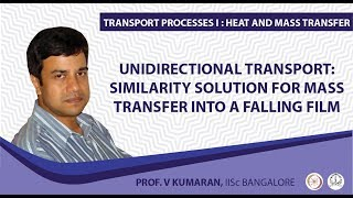 Unidirectional transport: Similarity solution for mass transfer into a falling film