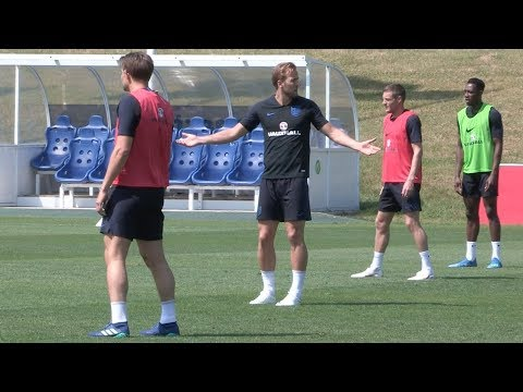 Harry Kane leads England training after being named captain for World Cup