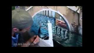 Роспись стен(Видео о том, как происходит роспись стен в интерьере. Подробнее о декорировании интерьера росписью на http://red..., 2013-10-13T13:14:08.000Z)