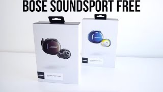 UNBOXING BOSE SOUNDSPORT FREE & REVIEW