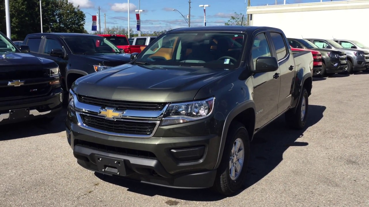 2017 Chevy Colorado Zr2 >> 2018 Chevrolet Colorado 4WD Work Truck Deepwood Green Metallic Roy Nichols Motors Courtice ON ...