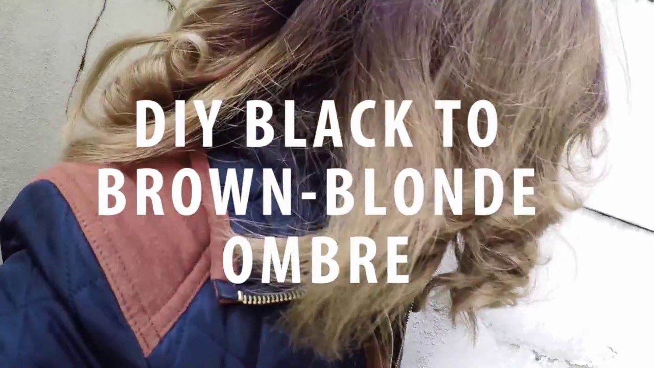 Dyed My Hair Blonde Ombre From Black Youtube