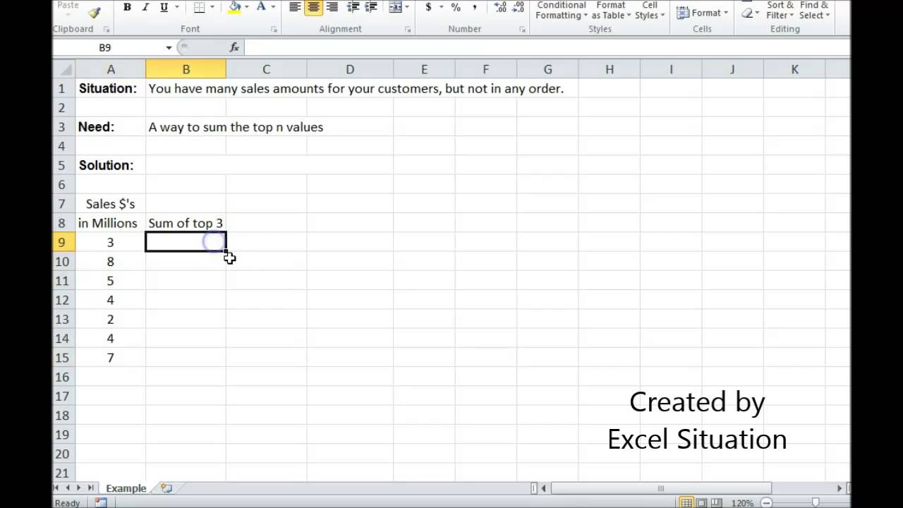 excel sum top n values excel sum top n values