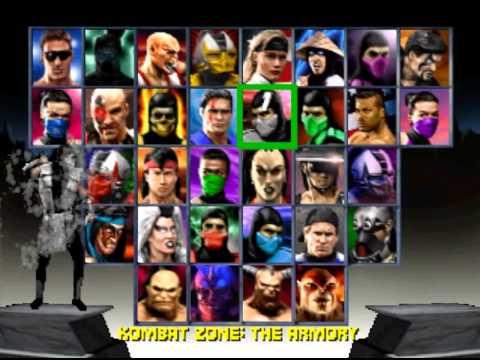 Mortal Kombat Trilogy PS1 Character Select