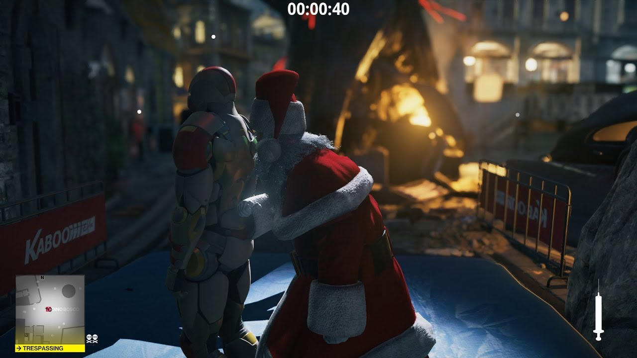 Hitman 2 Sapienza The Icon Silent Assassin Santa Only Youtube