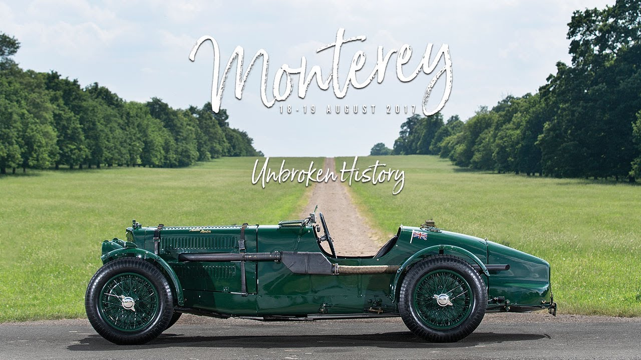Monterey 2017 1935 Aston Martin Ulster Competition Sports Youtube