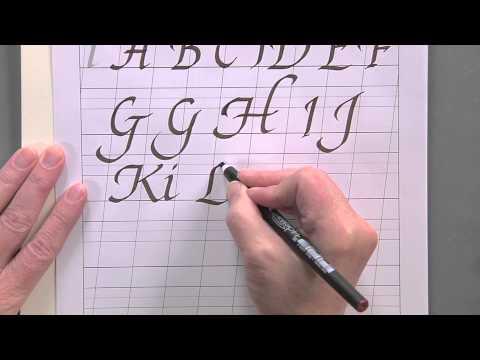 Calligraphy For Beginners - Swash Capital Italic Alphabet Tutorial W/Joanne Fink