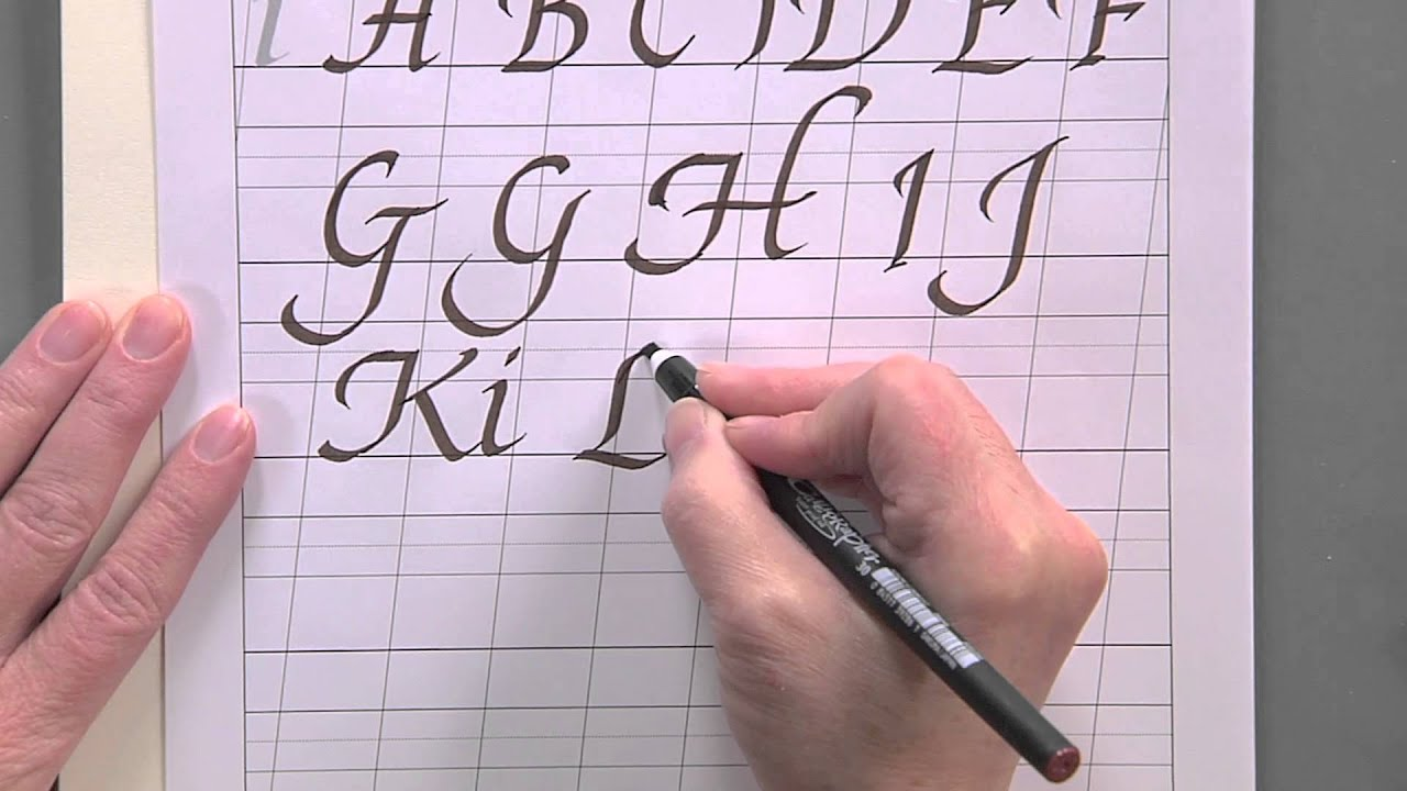 Calligraphy for Beginners - Swash Capital Italic Alphabet Tutorial w/Joanne  Fink