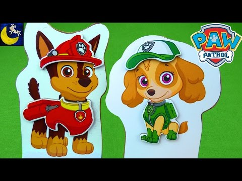 Thumbnail: Paw Patrol Toys R Us Toys Mix and Match Magnetic Wooden Dress Up Chase Skye Marshall Rocky Toys