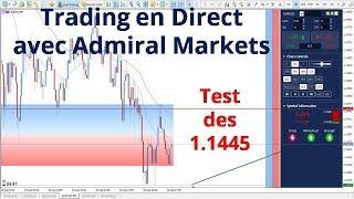 #Euro dollar CFD - Test des 1.1445 - Trading en direct avec Admiral Markets le 10 août