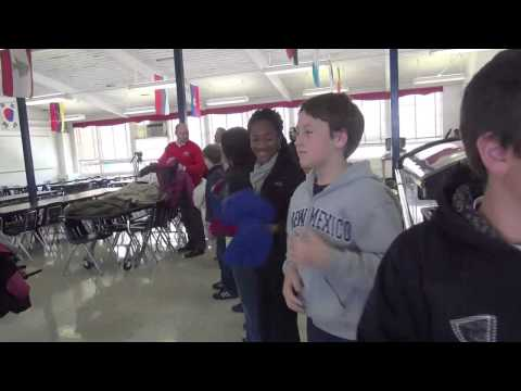 Puritan Cleaners Coats For Kids 2012 visits Tuckahoe Middle School
