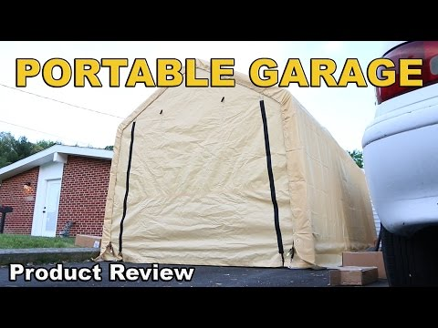 Harbor freight tools portable garage into Permanent st ...