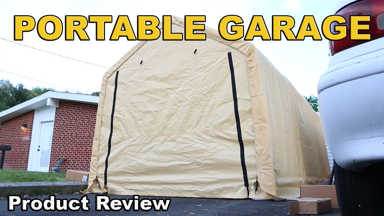 Harbor Freight Portable Garage Review 10 X 17 Youtube